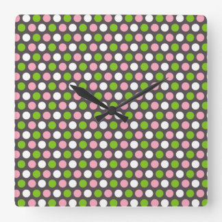 Polka-Dotted Wall Clock (background in grey)