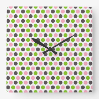 Polka-Dotted Wall Clock (background white)