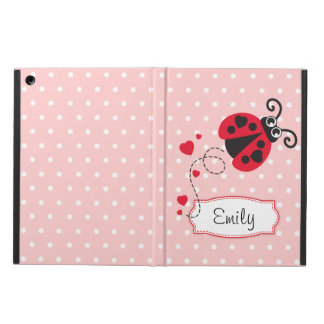 Polka flowers ladybug name ipad air powis case