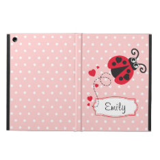 Polka Flowers Ladybug Name Ipad Air Powis Case Ipad Air Covers at Zazzle
