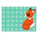 Polka Fox Notelet Greeting Cards