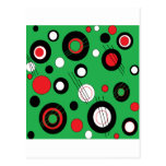 Polka Green Postcard