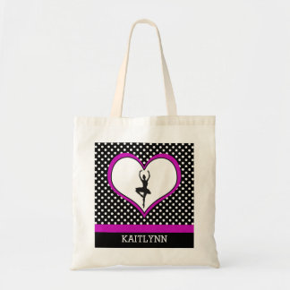 Polka-Heart Dance 2 Tote Budget Tote Bag