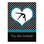 Polka-Heart Gymnastics Party Invitation