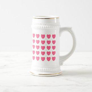Polka Hearts Beer Stein
