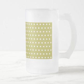 polka hots dots DOT spot dab dabbed baby dots Frosted Glass Beer Mug