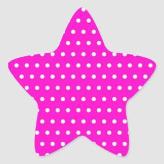 polka hots dots muster moteados weihnachten puntúa pegatina en forma de estrella