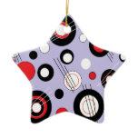 Polka Lilac Ceramic Ornament