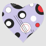 Polka Lilac Heart Sticker