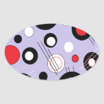 Polka Lilac Oval Sticker