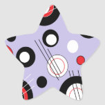 Polka Lilac Star Sticker