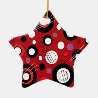 Polka Lipstick Red Ceramic Ornament