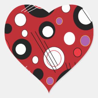 Polka Lipstick Red Heart Sticker