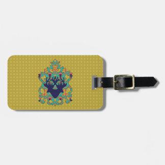 Polka Lotus Novo Morris Collection Luggage Tag