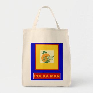 Polka Man Tote Bag
