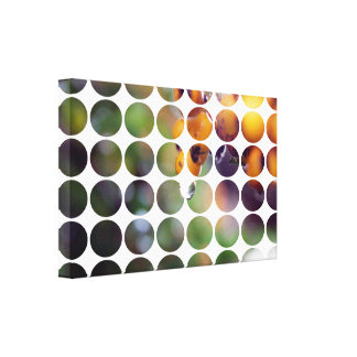 POLKA+PIC+WHITE STRETCHED CANVAS PRINTS