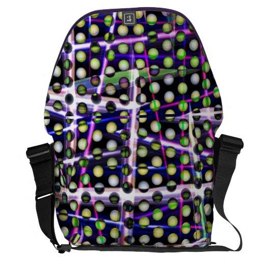 Polka Plaid messenger bag by Valxart.com