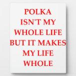 polka plaque