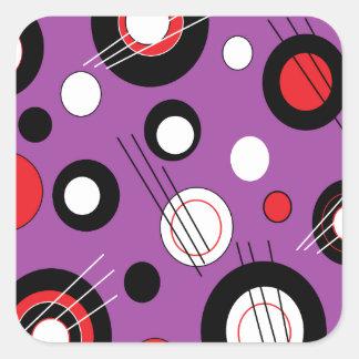 Polka Purple Square Sticker
