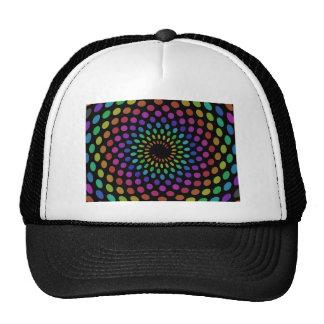 Polka Rainbow Swirl Trucker Hat