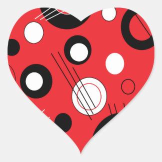Polka Red Heart Sticker