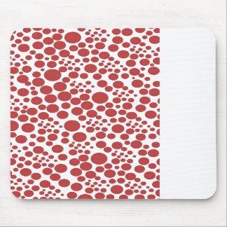 polka score retro dots POINTs 70's pünktchen red Mouse Pad