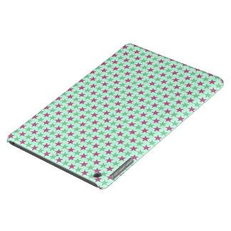 Polka stars, pale sea green, rose-cerise case for iPad air
