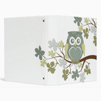 Polka Tree Owl Binder