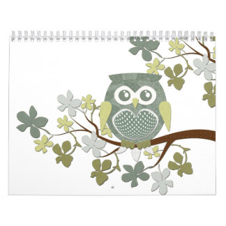 Polka Tree Owl Calendar