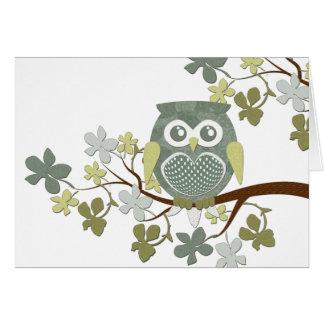 Polka Tree Owl Card