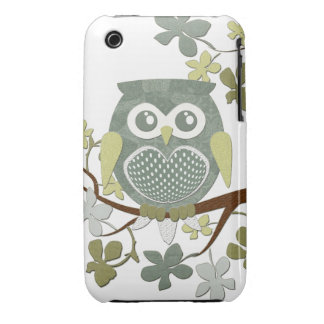Polka Tree Owl Case