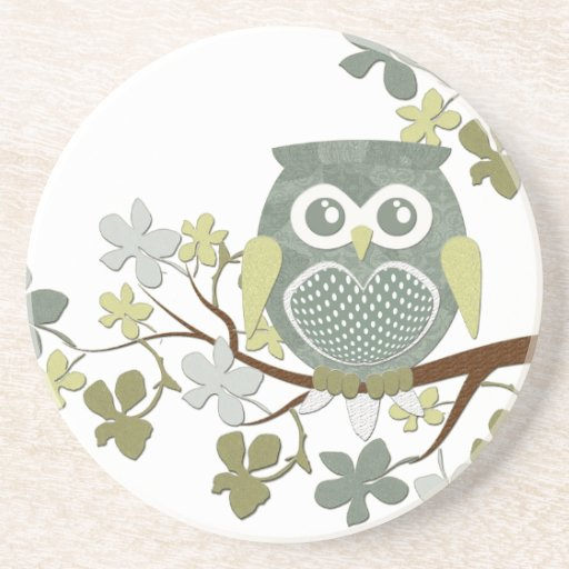 Polka Tree Owl Coaster
