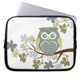 Polka Tree Owl Electronics Bag Laptop Sleeves