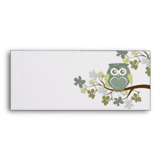 Polka Tree Owl Envelope