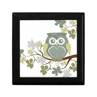 Polka Tree Owl Giftbox Jewelry Box