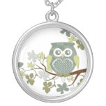Polka Tree Owl Necklace