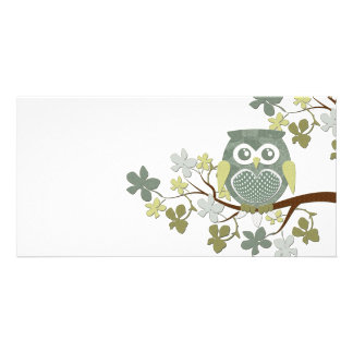 Polka Tree Owl Photo Card