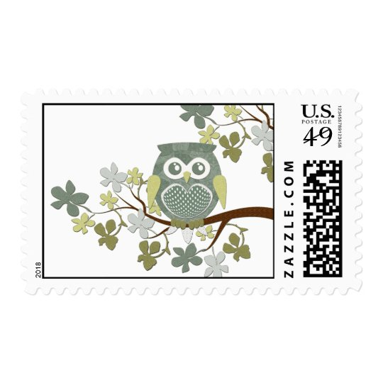 Polka Tree Owl Postage