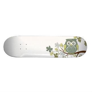 Polka Tree Owl Skateboard