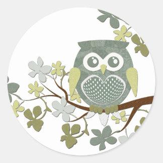 Polka Tree Owl Sticker