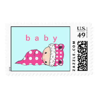 Polkadot Baby Postage Stamps