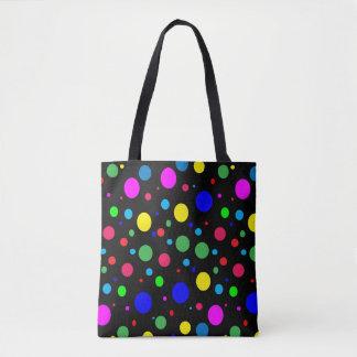 Polkadot Balloon Bubble Color Pattern Tote Bag