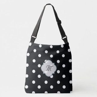 Polkadot black and white chevron bag