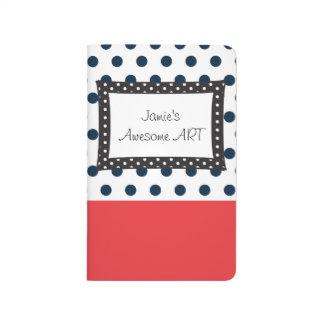 Polkadot blanco y negro para nunca cuaderno
