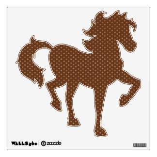 Polkadot Brown Horse Shape Wall Decal