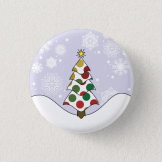 Polkadot Christmas Tree Art Button