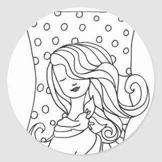 Polkadot Classic Round Sticker