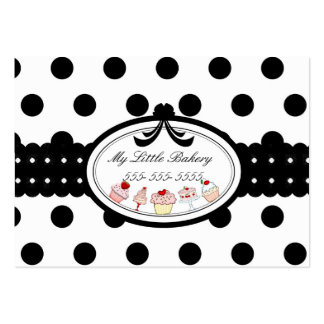 Polkadot Cupcakes Large Business Cards (Pack Of 100)