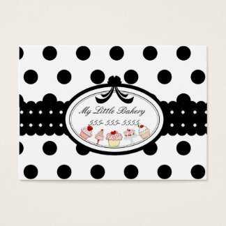 Polkadot Cupcakes Business Card