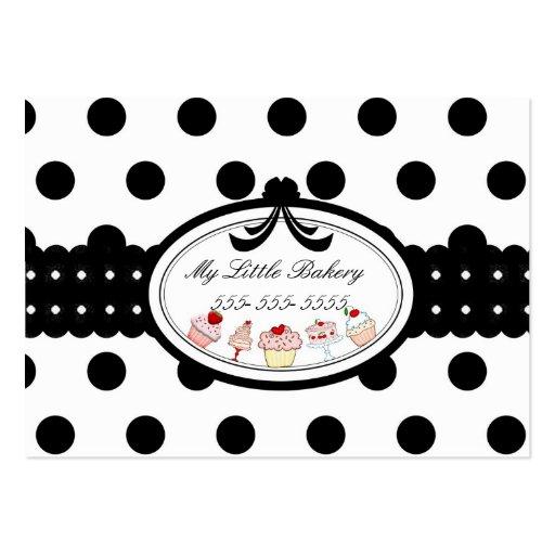 Polkadot Cupcakes Business Card Template